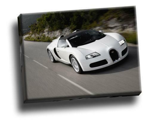 bugatti veyron picture art ebay. Black Bedroom Furniture Sets. Home Design Ideas