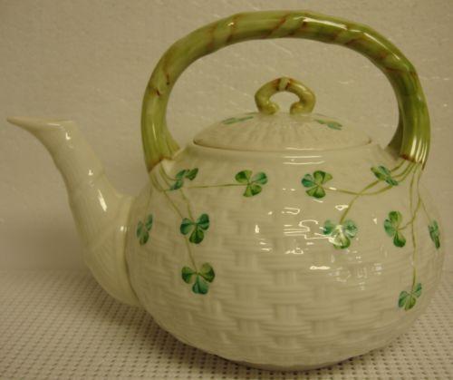 Belleek Shamrock Teapot Ebay