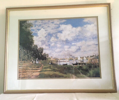 Framed Print of the Marina at Argenteuil by Claude Monet