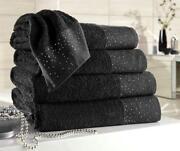 Black Hand Towels