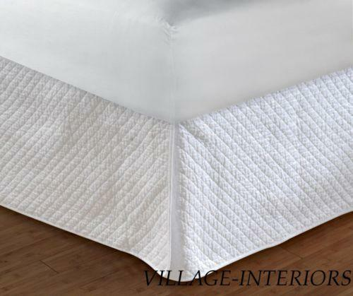 Queen White Bedskirt 18 Ebay