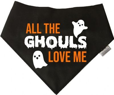 Spoilt Rotten Pets All the Ghouls Dog Bandana Halloween Costume Dog Fancy Dress - All The Halloween Costumes