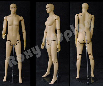Female Mannequin Dress Form Display With Flexible Head Arms And Legs Fm01-s-mz