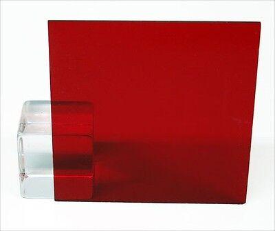 Sibe-r Plastic Supply Red Transparent Acrylic Plexiglass Sheet 18 12 X 24