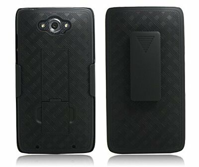 New Black Belt Clip Case Shell Holster + Stand for Motorola Droid Turbo XT1254