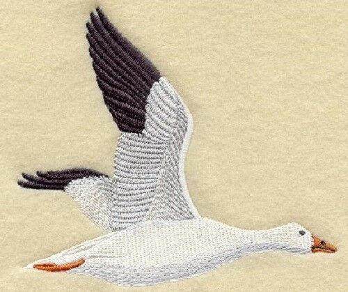 Embroidered Sweatshirt - Snow Goose M2035