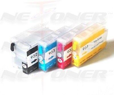 4 Full Refillable Ink Cartridges Hp 932 933 Xl Officejet ...