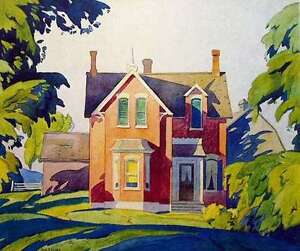 """A.J. Casson """"Old House on Bayview"""" Litho - Appraised at $1400"""
