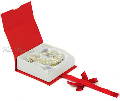 BANGLE BRACELET BOX BANGLE RED WATCH BOX SHOWCASE BOX RED JEWELRY GIFT BOX DEAL!