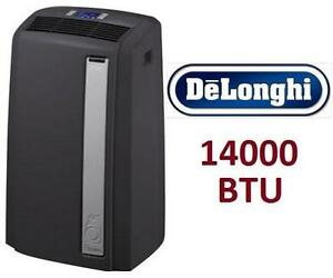 NEW* DP 14000 BTU AIR CONDITIONER DELONGHI PINGUINO - HEATING, COOLING DEHUMIDIFIER AND FAN - PORTABLE - REMOTE
