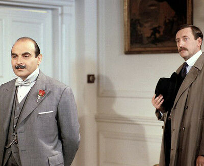 David Suchet and Philip Jackson UNSIGNED photo - H6005 - Poirot