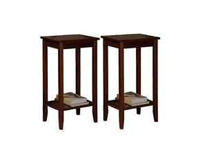 Side Table Dorel Home Products Rosewood Tall End Brand New
