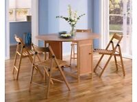 Butterfly Oval Dining Table & 4 Chairs - Oak (Brand new and boxed)