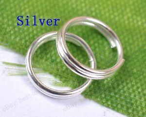 4MM,5MM,6MM,7MM,8MM,10MM,12MM,Double Loop split Jump Rings Jewelry Make findings