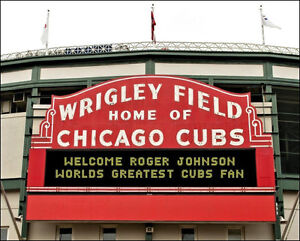 Personalized Wrigley Field Marquee Photo 8x10