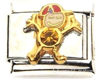 November Boy 9mm Italian Charm Stainless Link Birthstone Birthday Kid Son Yellow Child 9mm Birthstone Italian Charm
