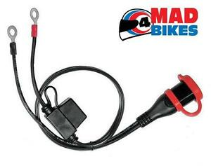 permanent connection lead for the biketek bch012 motorcycle battery charger ebay. Black Bedroom Furniture Sets. Home Design Ideas