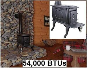 NEW* CAST IRON EPA CERTIFIED STOVE US Stove Certified Cast Iron Logwood Stove Small 54,000 BTUs HOME COTTAGE HEATER