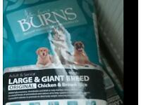 Dog food burned new 2 15kg bags