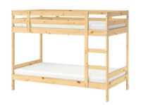 Bunk bed, with mattresses, in top condition