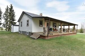 8+ Acres w/ Bungalow, heated shop and close to Towns