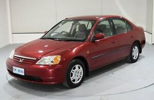 2001 Honda Civic 7TH GEN GLi Red 5 Speed Manual Sedan Invermay Launceston Area Preview
