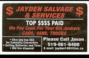 Jayden Salvage$Services Vehicle Purchasing and Transportation