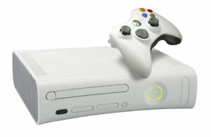 Xbox 360 with two controllers