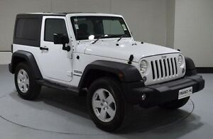 2016 Jeep Wrangler JK MY2016 Sport White 5 Speed Automatic Softtop Invermay Launceston Area Preview