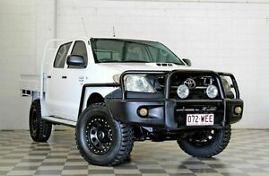 2009 Toyota Hilux KUN26R 09 Upgrade SR (4x4) White 5 Speed Manual Dual Cab Chassis Burleigh Heads Gold Coast South Preview