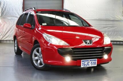 2007 Peugeot 307 T6 XSE HDi Touring Red 6 Speed Sports Automatic Wagon Myaree Melville Area Preview