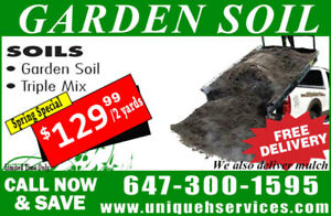 Garden Soil/Triple Mix for Sale (FREE DELIVERY-$130 FOR 2 YARDS)