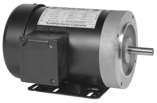 eElectric Motor 2 hp 3 phase 1800 rpm TEFC 56C  Frame