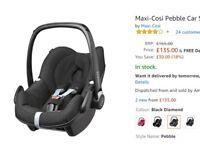 Maxi-Cosi Pebble Car Seat, Group 0 Plus, Black - £85