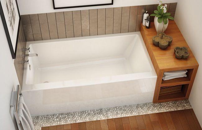 "Maax Rubix 60"" X 30"" X 19"" Acrylic Alcove Bathtub With Apron & Tiling Flange"
