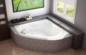 """'New' Maax Murmur 60 x 60"""" Corner Soaker Tub"""