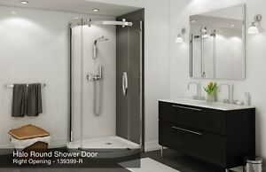 SHOWER BASE AND GLASS DOOR