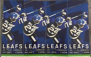 Toronto Maple Leafs vs Vancouver Canucks (2 or 4 TICKETS)