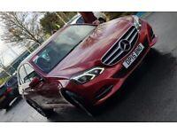 2015 Mercedes-Benz E-Class E220 Diesel BlueTec, Semi-Auto, Burgundy, Beige Leather, Sat Nav