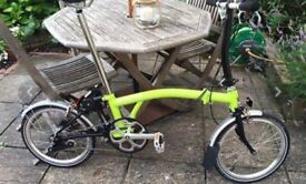 Brompton M3L (2015) Lime Green/Black