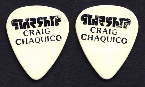 Jefferson Starship Craig Chaquico Signature White/Black Guitar Pick 1980s Tours
