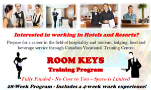 START A NEW CAREER IN HOSPITALITY - It's Funded. No cost to you!
