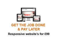 Full responsive website for just £99, We are super fast | We can get your full site live in a day