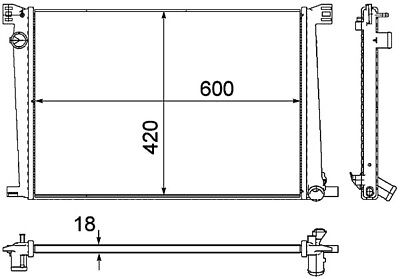 Radiator-New PREMIUM Perfect fit Behr Hella Service fits 07-12 Mini Cooper