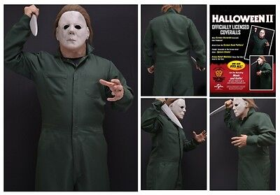 Official Halloween II Deluxe Coveralls Michael Myers Costume Trick or Treat - Michael Myers Costume