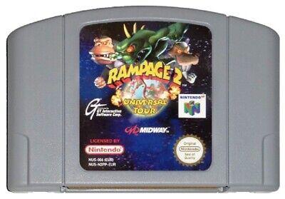 RAMPAGE 2: UNIVERSAL TOUR (PAL N64 Game) Nintendo 64 GENUINE A