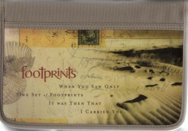 Footprints Bible & Book Cover, Large, New
