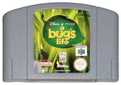 A BUG'S LIFE (PAL N64 Game) Nintendo 64 Bugs Disney Pixar GENUINE C