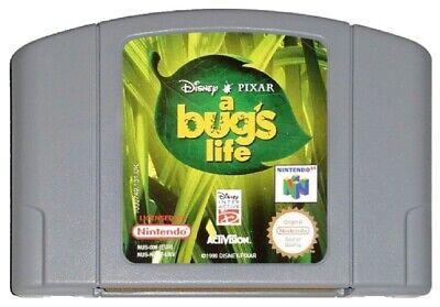 A BUG'S LIFE (PAL N64 Game) Nintendo 64 Bugs Disney Pixar GENUINE A