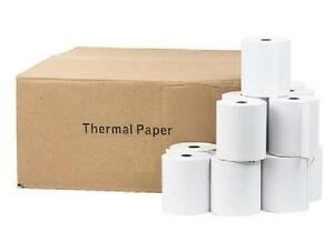 "Thermal Paper Rolls, 3-1/8"" x 225' - Per Roll - 5+ Rolls, 10+ Rolls or 50+ Rolls - White"